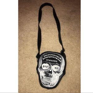Ouija Skull Crossbody Purse